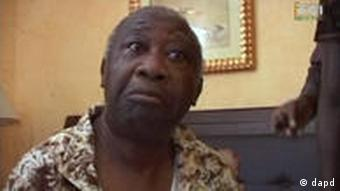 Laurent Gbagbo is seen after his arrest