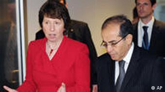 Catherine Ashton with Libyan opposition