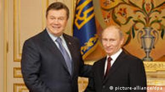 Yanukovych and Russian Prime Minister Putin