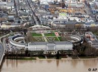Vista aérea do palácio
