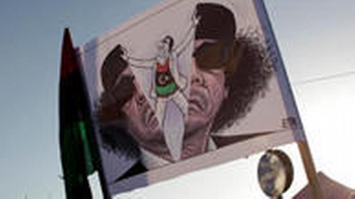 Aksi protes anti Gaddafi di Benghazi, 2011
