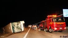 Unfall polnischer Reisebus A4 Sachsen Flash-Galerie