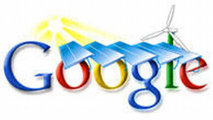 Google Logo power plant