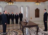 در ۱۶ آوریل عادل سفر، وزیر کشاورزی پیشین، از سوی بشار اسد به سمت نخستوزیر گمارده شد