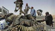 Libyen Rebellen Ajdabiya Munition