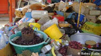 goods at a Senegalese market