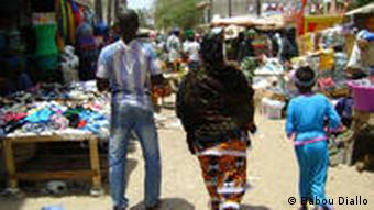 family at a Senegalese market