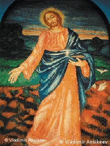 Фреска ''Христос-Сеятель'' Петрова-Водкина в мавзолее Эрлангеров
