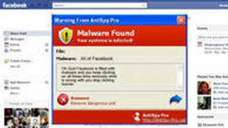 Screenshot Facebook Malware