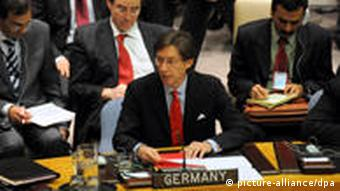 Germany's Ambassador to the UN Peter Wittig