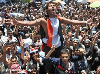 Youths protest in Sanaa
