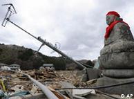 日本地震灾区废墟一片