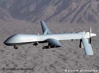 A Predator drone flying over conflict zones in Afghanistan