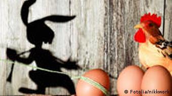 Ostern Hase stiehlt Eier