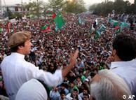 سخنرانی عمران خان در جمع تظاهرکنندگان
