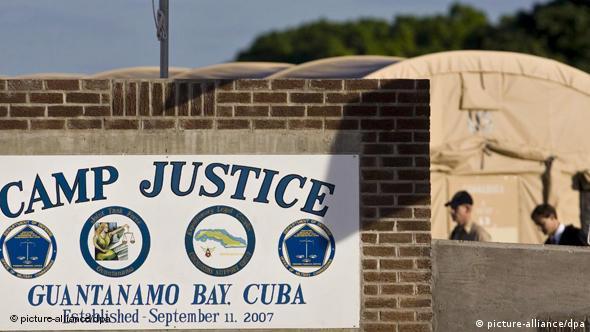 Una vista de la base estadounidense de Guantánamo.