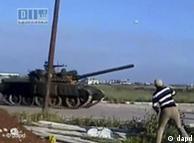 حمله تانکهای ارتش سوریه به شهر درعا