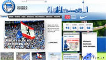 Hertha BSC Web Site
