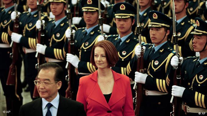 China Australien Julia Gillard Wen Jiabao Peking