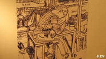 Постер выставки оссобый режим с изображением заключенных в камере