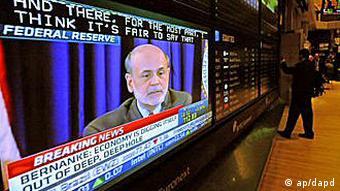 Bernanke im Wirtschaftsfernsehen (Foto: ap/dpad)