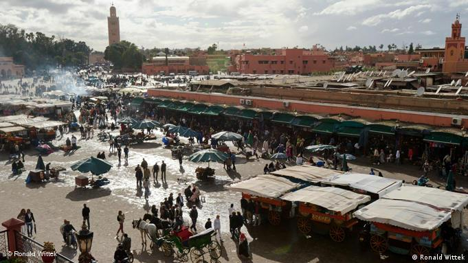 Marokko Platz Djemaa El Fna Marrakesch Flash-Galerie
