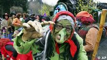 Hexe mit grünem Gesicht (AP Photo/Frank Drechsler)