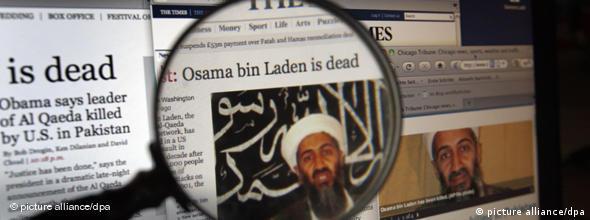 NO FLASH Onlinseiten zum Tod von Osama bin Laden