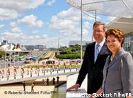 El presidente alemán llegó a Brasil el 5 de mayo. Aquí, con la presidenta Dilma Rousseff.