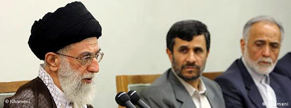NO FLASH Ali Khamenei and Mahmoud Ahmadinejad