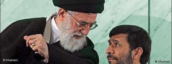 NO FLASH Ali Khamenei and Mahmoud Ahmadinejad
