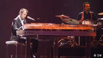 Raphael Gualazzi at the piano