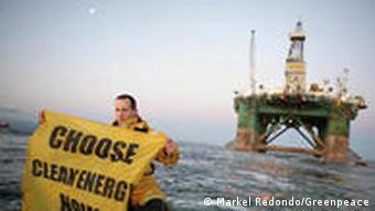 Greenpeace-Aktivist Bild: Markel Redondo / Greenpeace