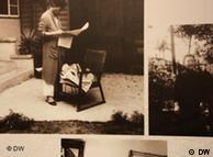 紫藤庐墙上挂着泛黄照片,述说着过去老旧的故事