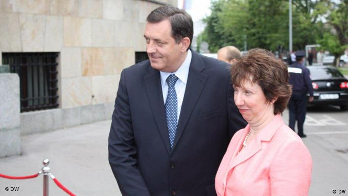 Milorad Dodik und Catherine Ashton in Banja Luka Flash-Galerie