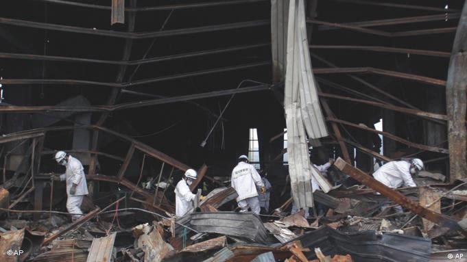 Zerstörtes Fabrikgebäude in Kesennuma in der Präfektur Miyagi (Foto: AP)