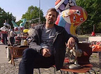 Heiko Heybey auf dem Flohmarkt am Hohen Ufer