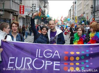 ILGA members march in Brussels