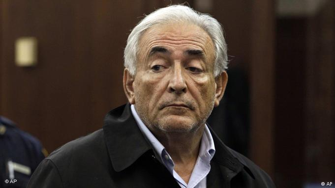 FILE - In this May 16, 2011 file photo, Dominique Strauss-Kahn, head of the International Monetary Fund, is arraigned in Manhattan Criminal Court. Strauss-Kahn, a wealthy French politician accustomed to high living and globe-trotting, wants off Rikers Island, a modern-day Bastille known as one of America's largest and roughest jail complexes. Behind bars on Rikers since Monday, the beleaguered IMF chief is scheduled to return to a Manhattan court on Thursday afternoon to again ask for bail on charges he sexually assaulted a hotel maid _ a move seemed certain to face vigorous opposition by prosecutors. (AP Photo/Richard Drew, Pool)