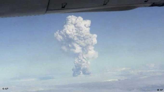 In this image taken from amateur video, smoke from the Grimsvotn volcano, Iceland is seen from a plane Saturday, May 21, 2011. Iceland's most active volcano has started erupting, scientists said Saturday, just over a year after another eruption on the North Atlantic island shut down European air traffic for days, but the impact of this volcanic eruption is not yet known. (AP Photo/Amateur video via APTN) ICELAND OUT, TV OUT