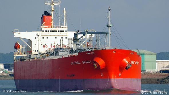 Tanker transporting Diesel fuel