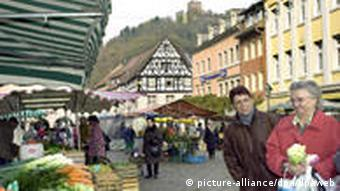 The marketplace in the town of Waldkirch