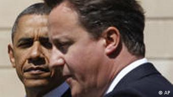 U.S. President Barack Obama and British Prime Minister David Cameron
