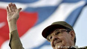 Raul Castro bei Maidemonstration