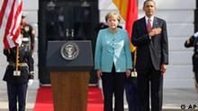 USA Barack Obama Angela Merkel vor dem Weißen Haus in Washington