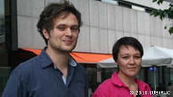 Daniel Korwan und Johanna Moser. Studenten der TU die an dem Projekt teilgenommen haben