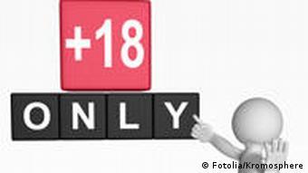 An 18+ sign