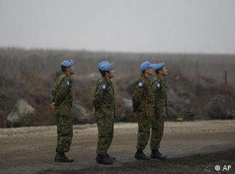 نیروهای حافظ صلح سازمان ملل بر بلندیهای جولان، منطقه مورد مناقشه اسرائیل و سوریه