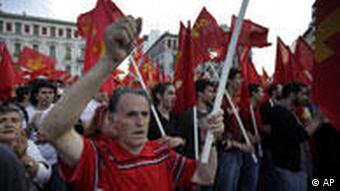 Greeks protesting