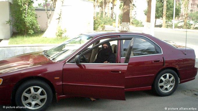 Saudi woman in a car